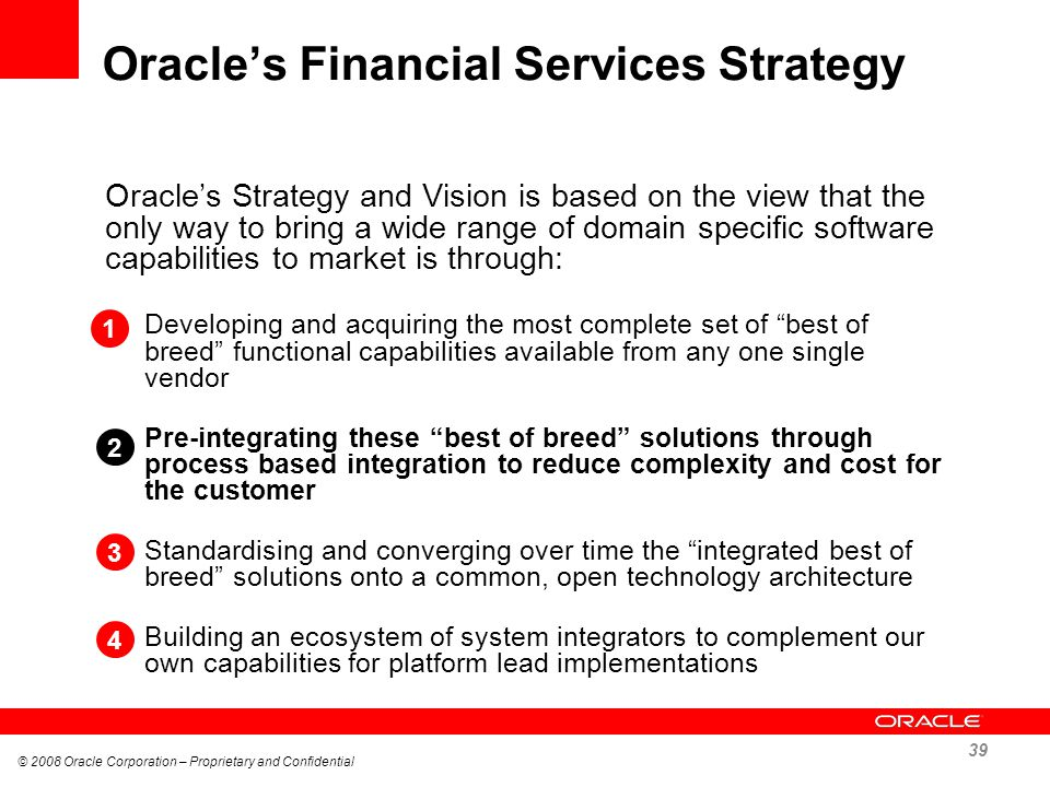 Oracle's Financial Services Strategy