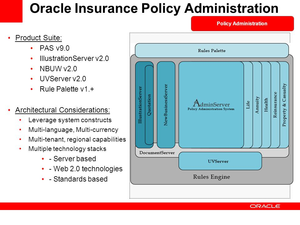 Oracle Insurance Policy Administration