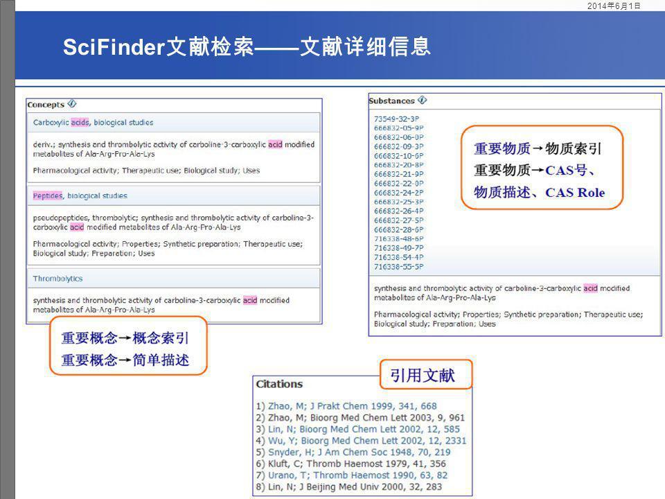 SciFinder文献检索——文献详细信息