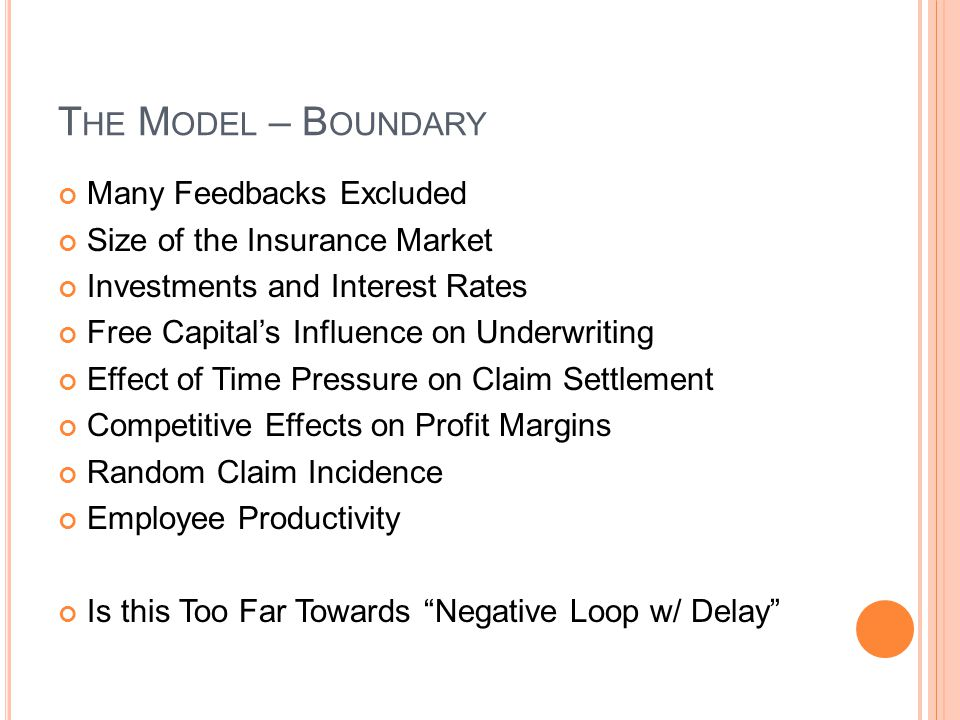 The Model – Boundary Many Feedbacks Excluded