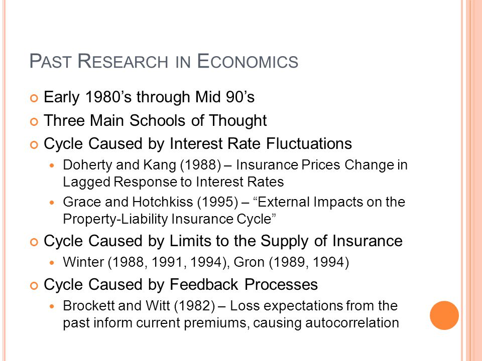 Past Research in Economics