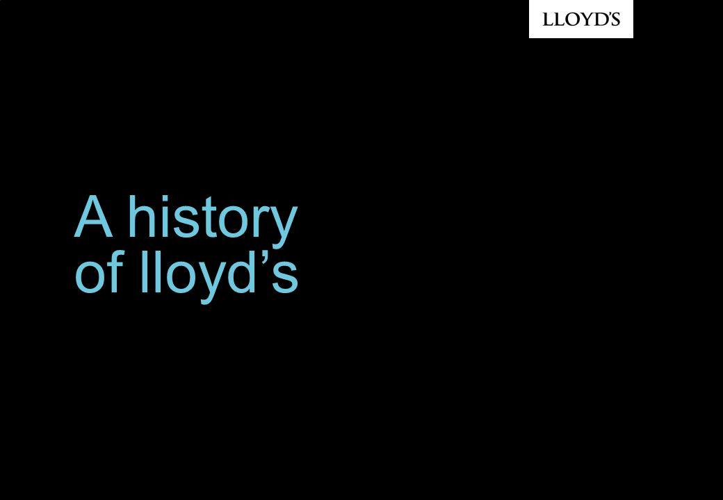 A history of lloyd's