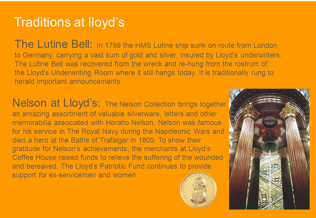 Traditions at lloyd's