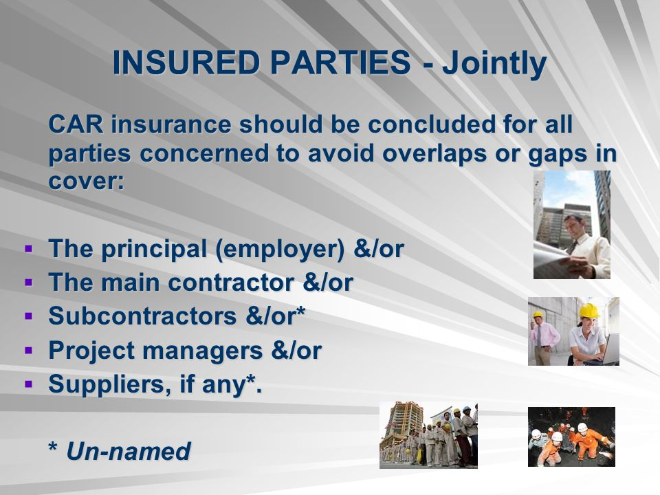 INSURED PARTIES - Jointly