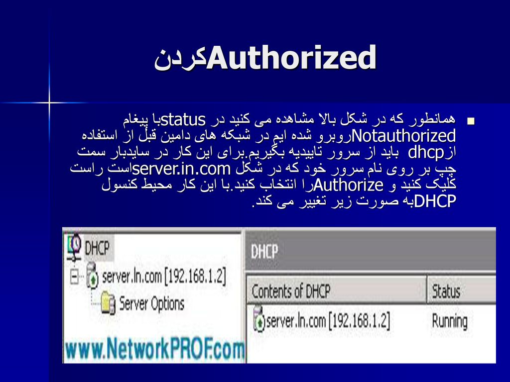 Authorized کردن