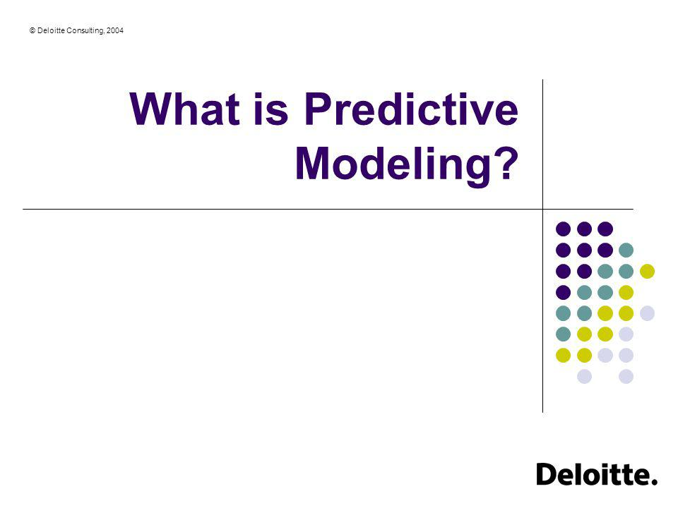 What is Predictive Modeling
