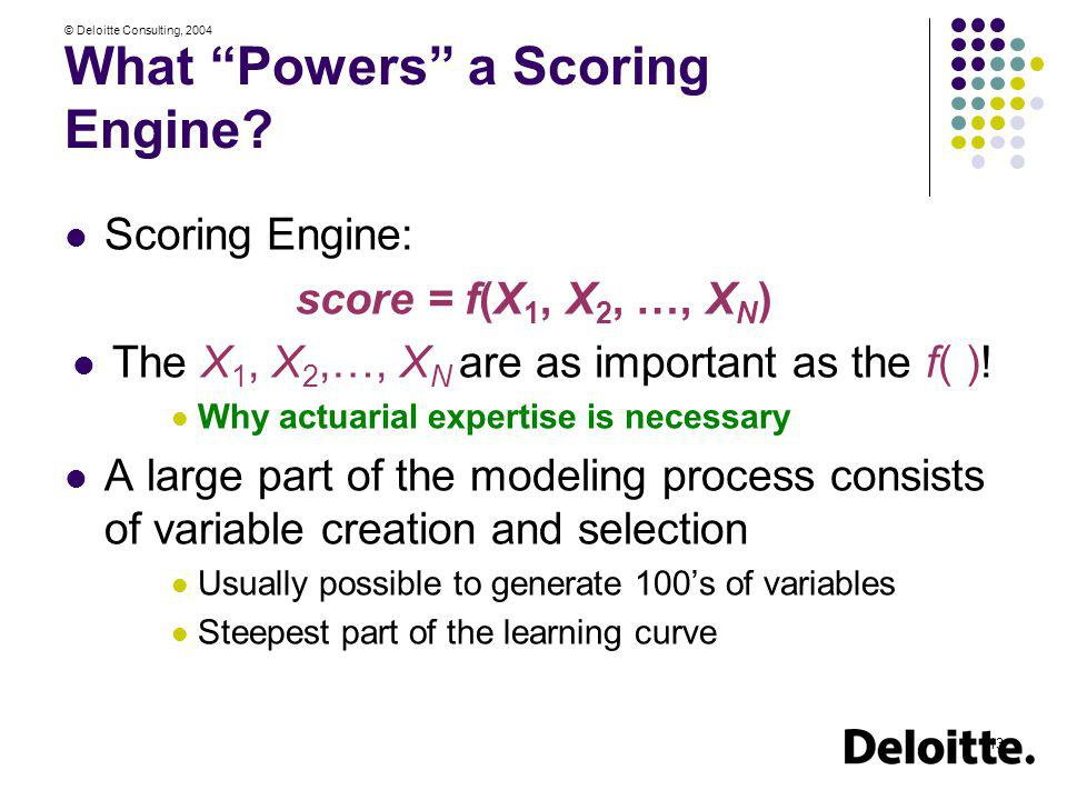 What Powers a Scoring Engine