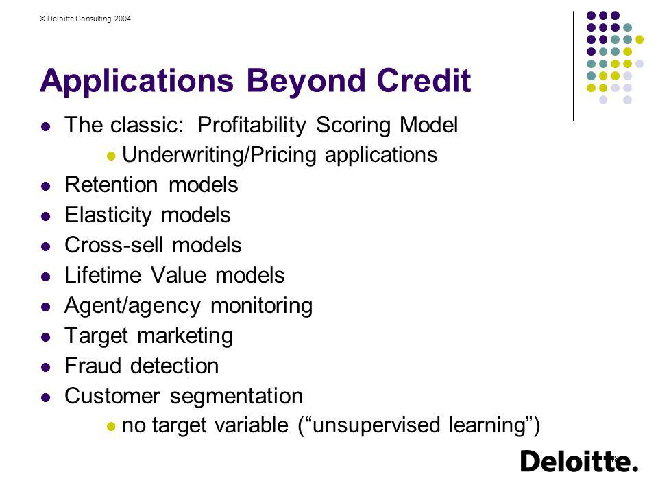 Applications Beyond Credit