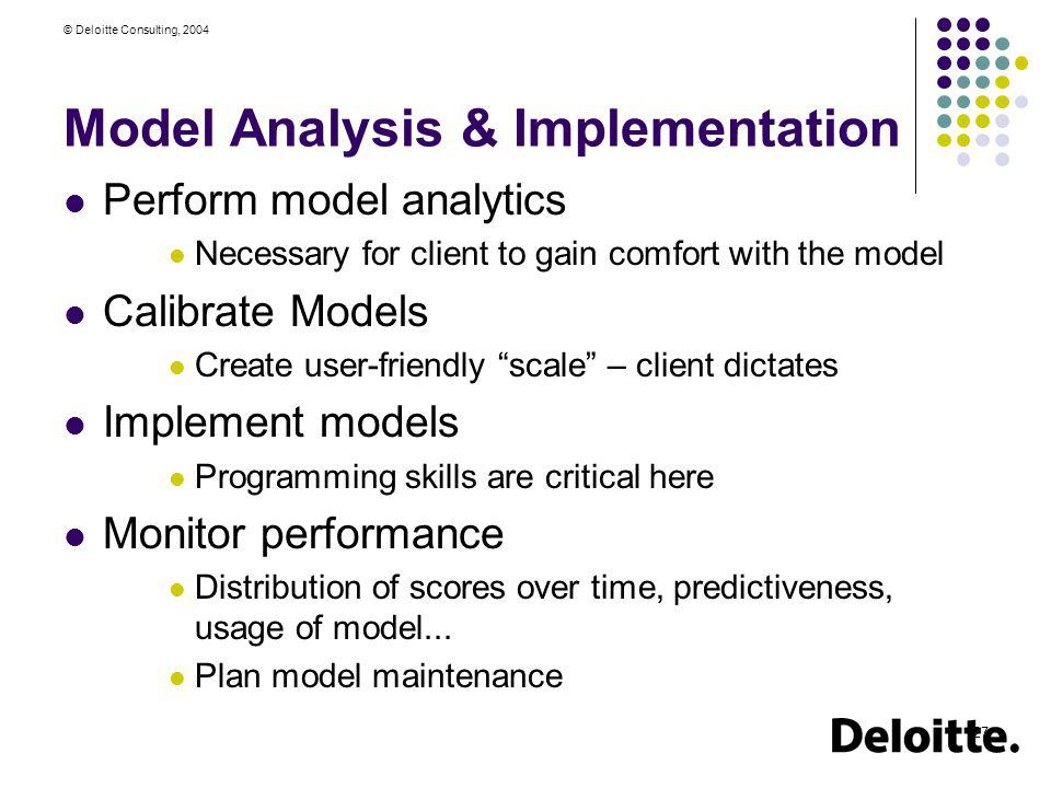 Model Analysis & Implementation