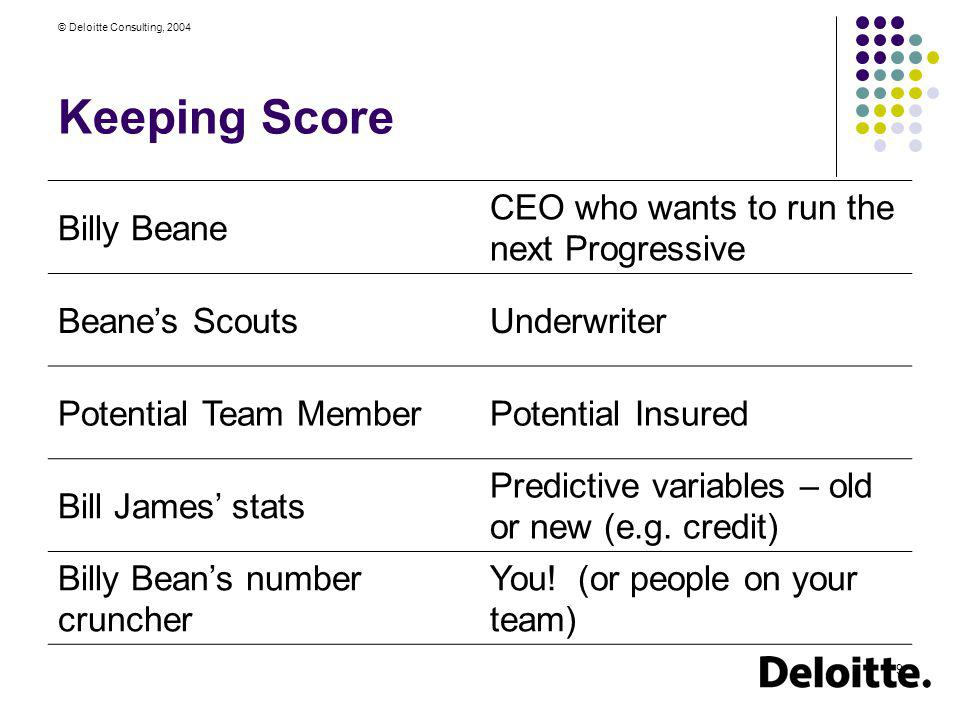 Keeping Score Billy Beane CEO who wants to run the next Progressive