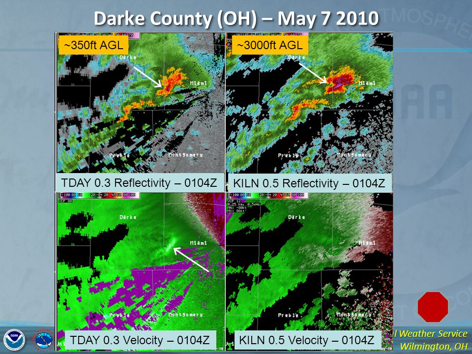 Darke County (OH) – May 7 2010 ~350ft AGL ~3000ft AGL