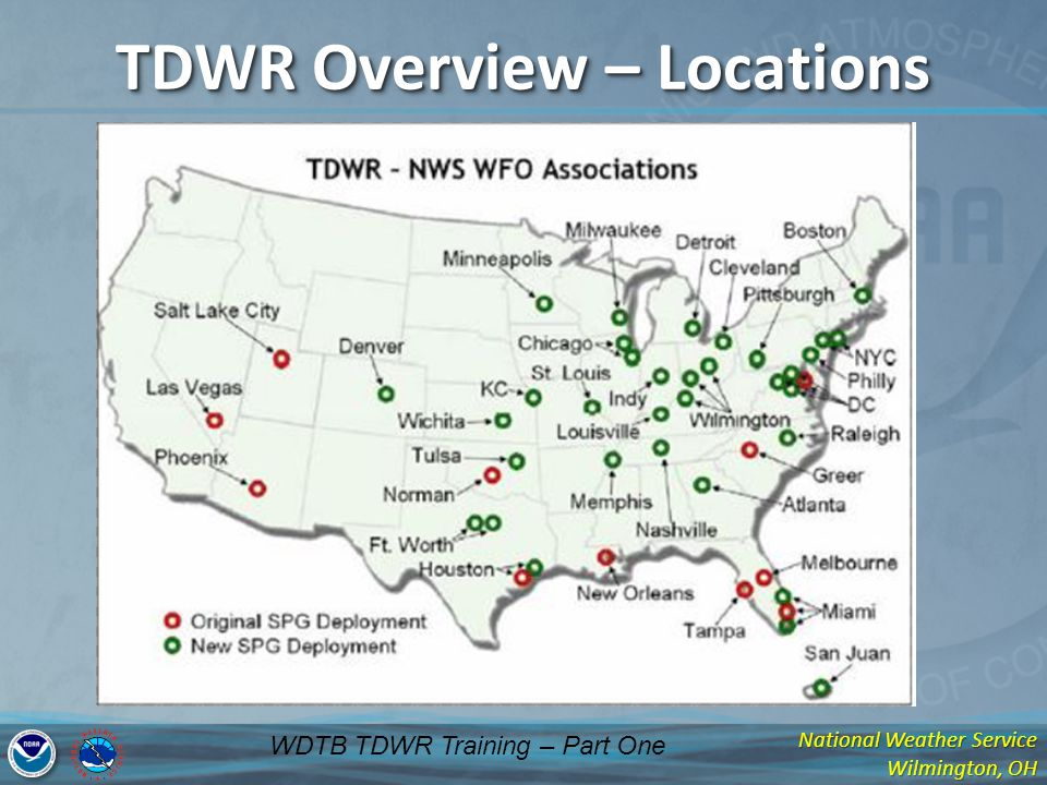 TDWR Overview – Locations