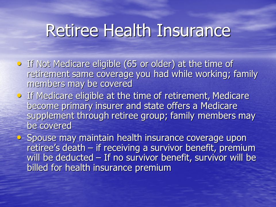 Retiree Health Insurance