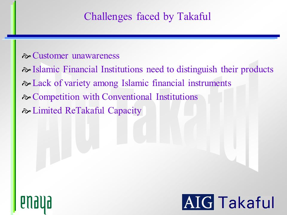 Challenges faced by Takaful