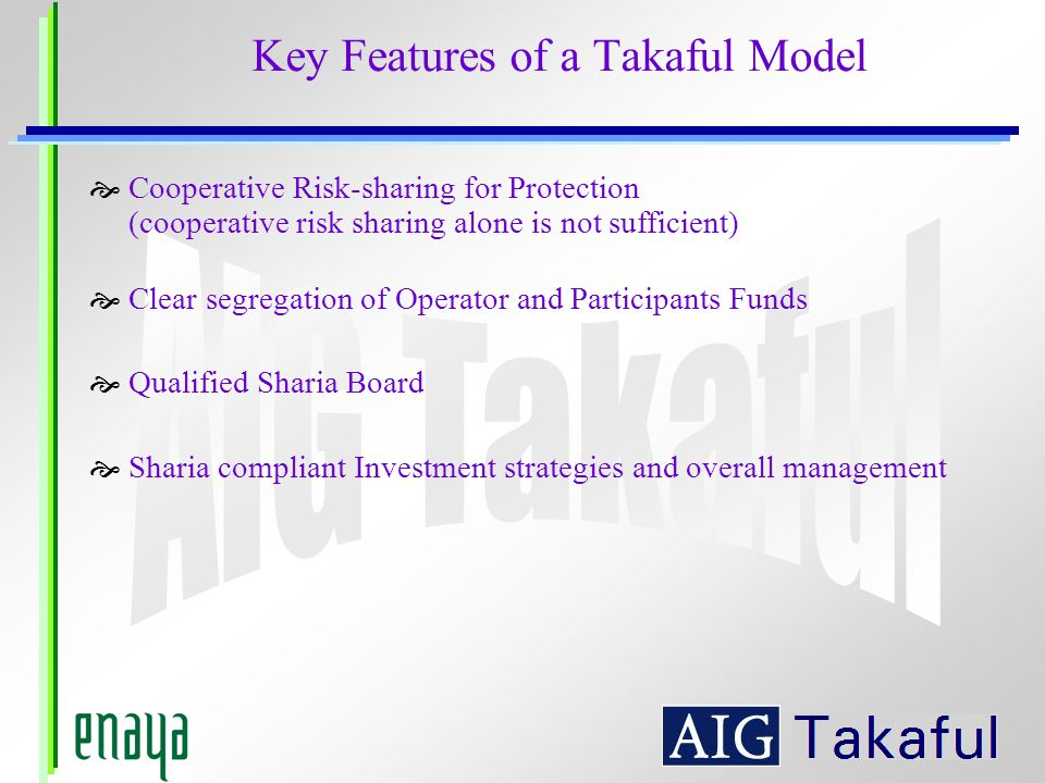 Key Features of a Takaful Model