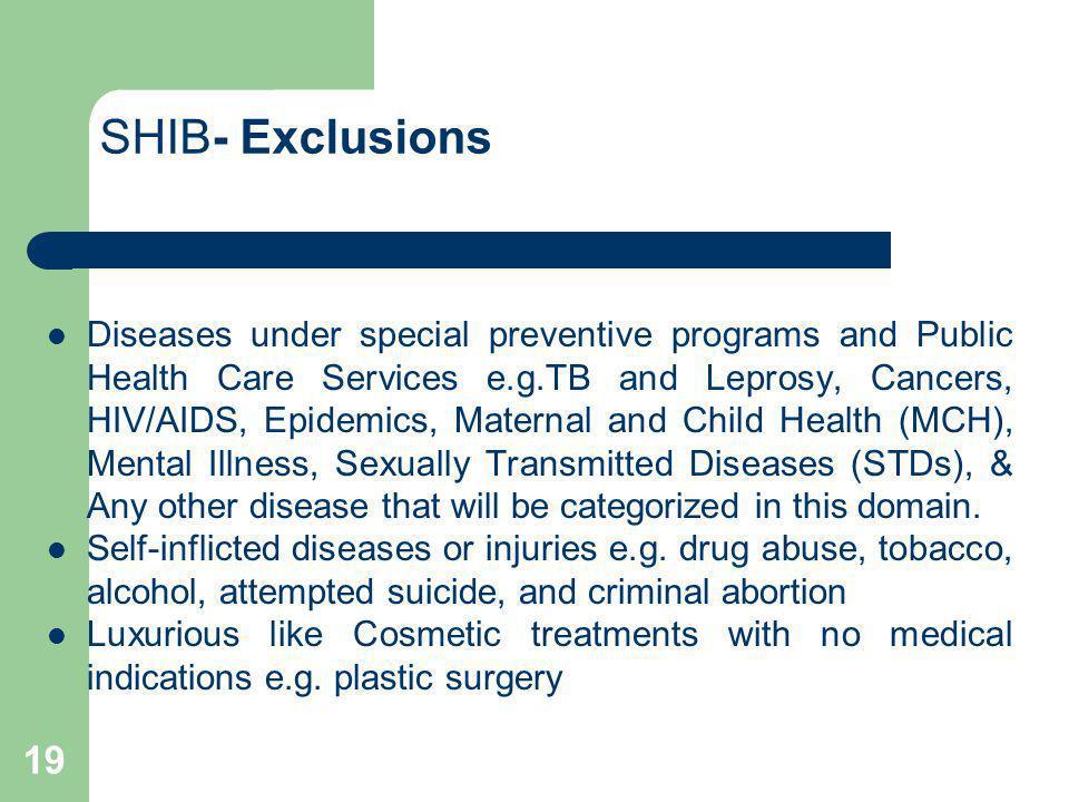 SHIB- Exclusions