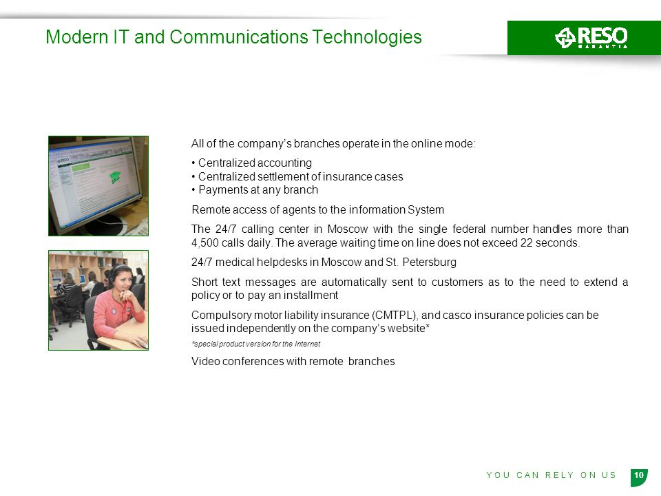 Modern IT and Communications Technologies
