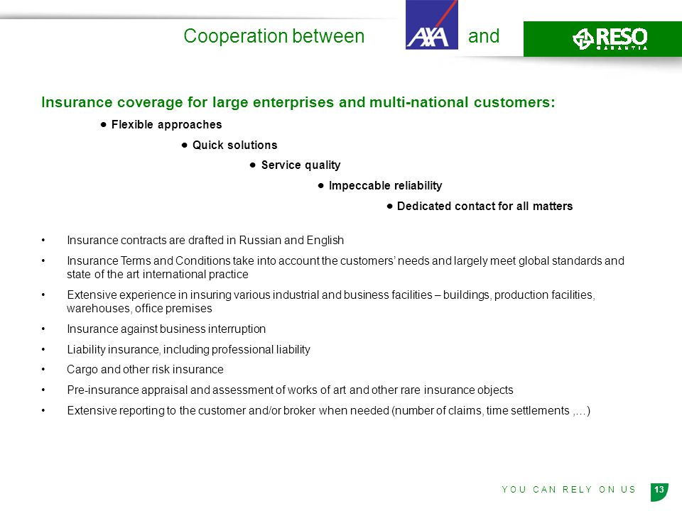 Cooperation between and
