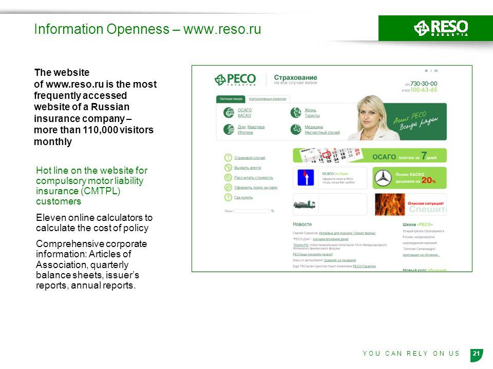 Information Openness – www.reso.ru