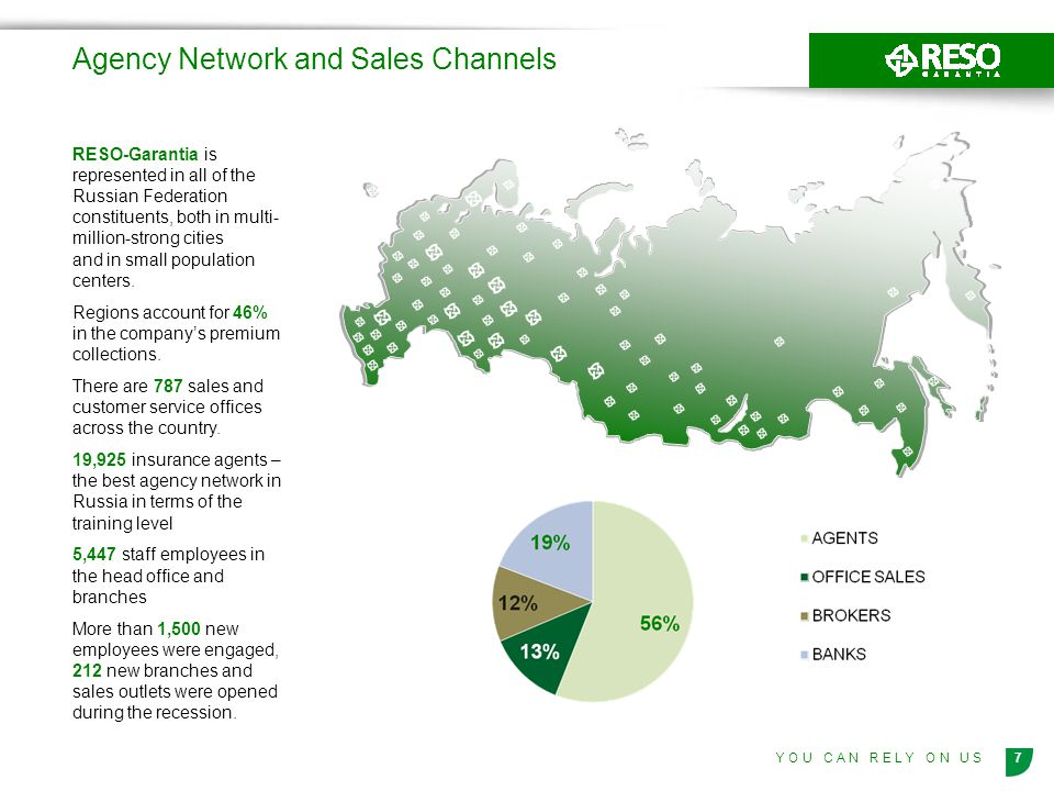 Agency Network and Sales Channels