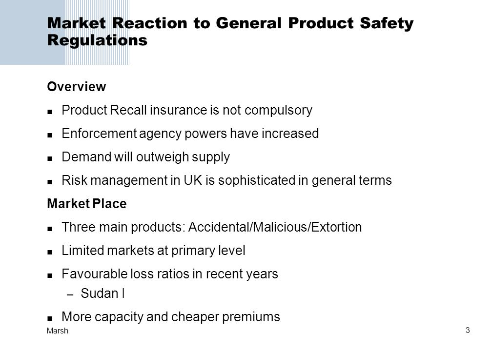 Market Reaction to General Product Safety Regulations