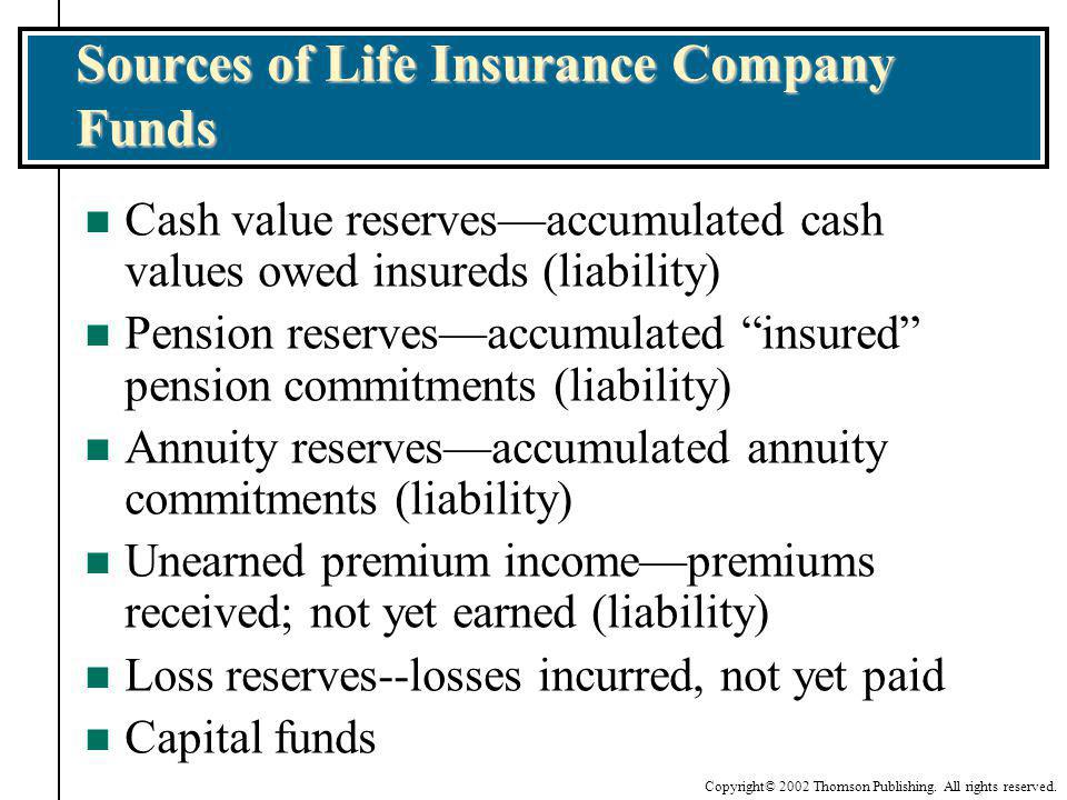 Sources of Life Insurance Company Funds