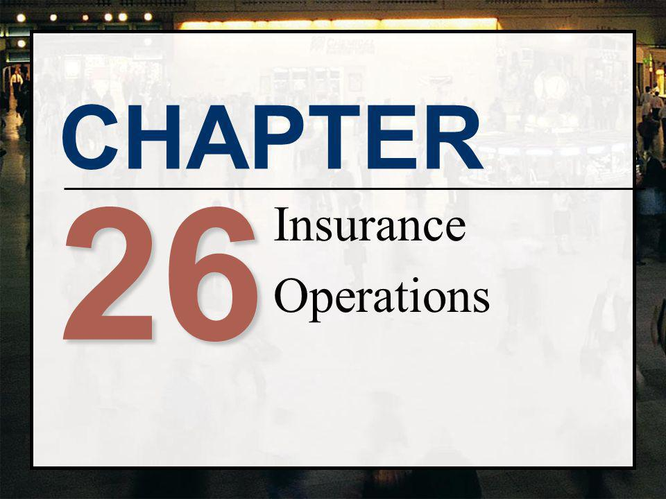 Insurance Operations 26
