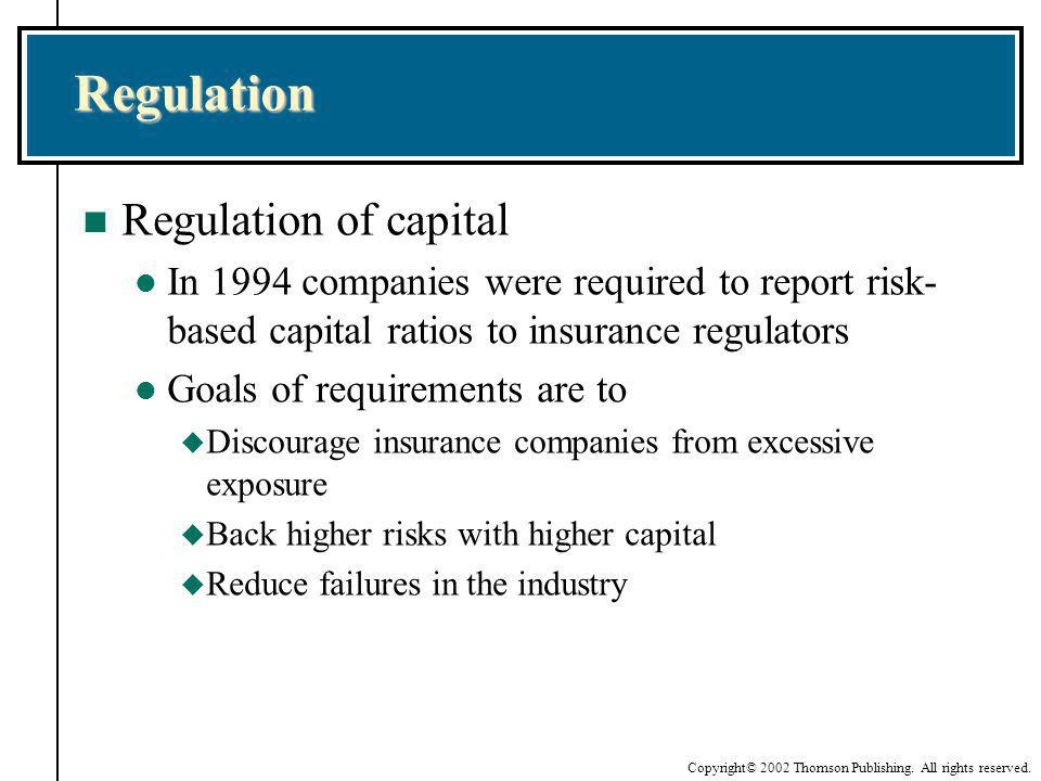 Regulation Regulation of capital