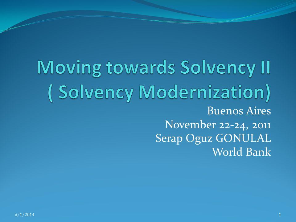 Moving towards Solvency II ( Solvency Modernization)