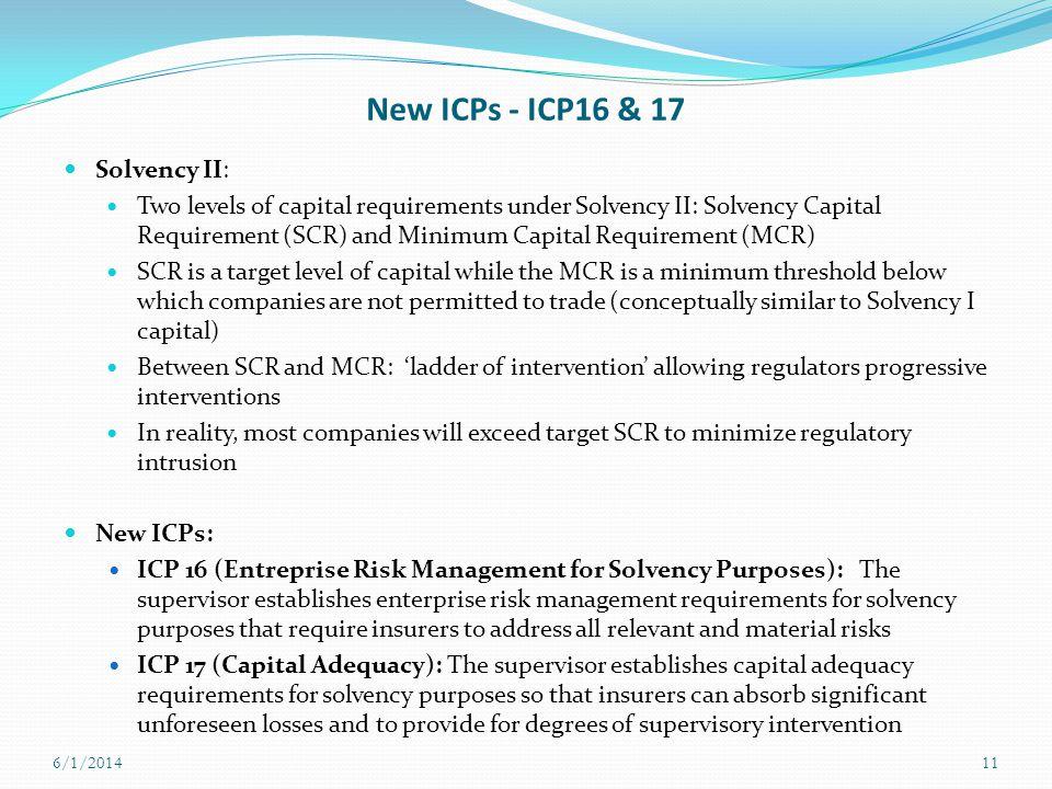 New ICPs - ICP16 & 17 Solvency II: