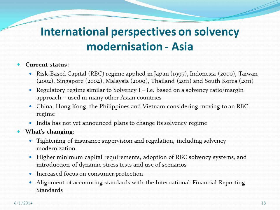 International perspectives on solvency modernisation - Asia