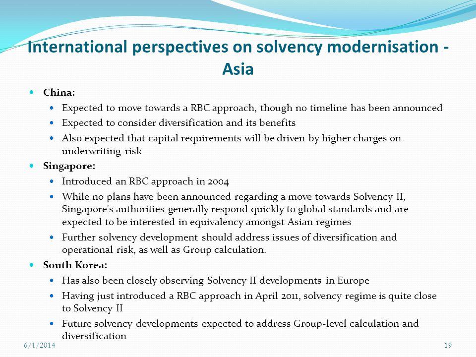 International perspectives on solvency modernisation - Asia