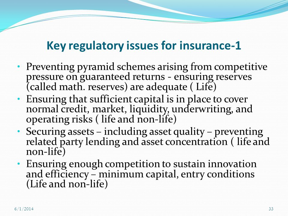 Key regulatory issues for insurance-1