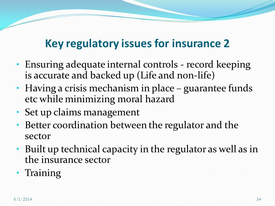 Key regulatory issues for insurance 2