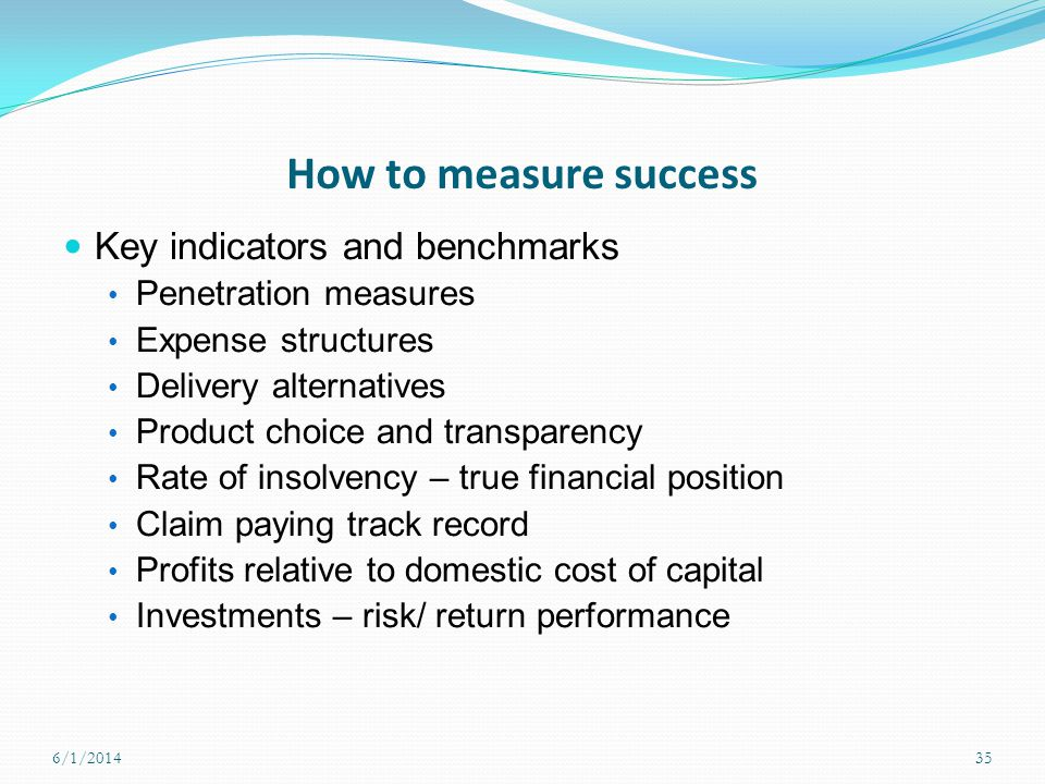 How to measure success Key indicators and benchmarks