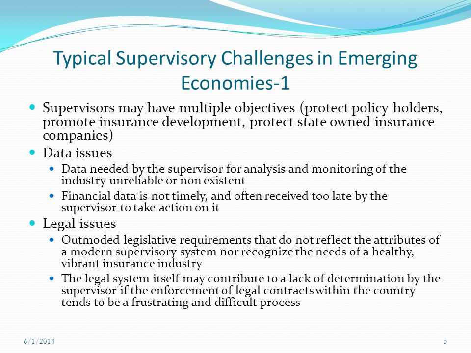 Typical Supervisory Challenges in Emerging Economies-1