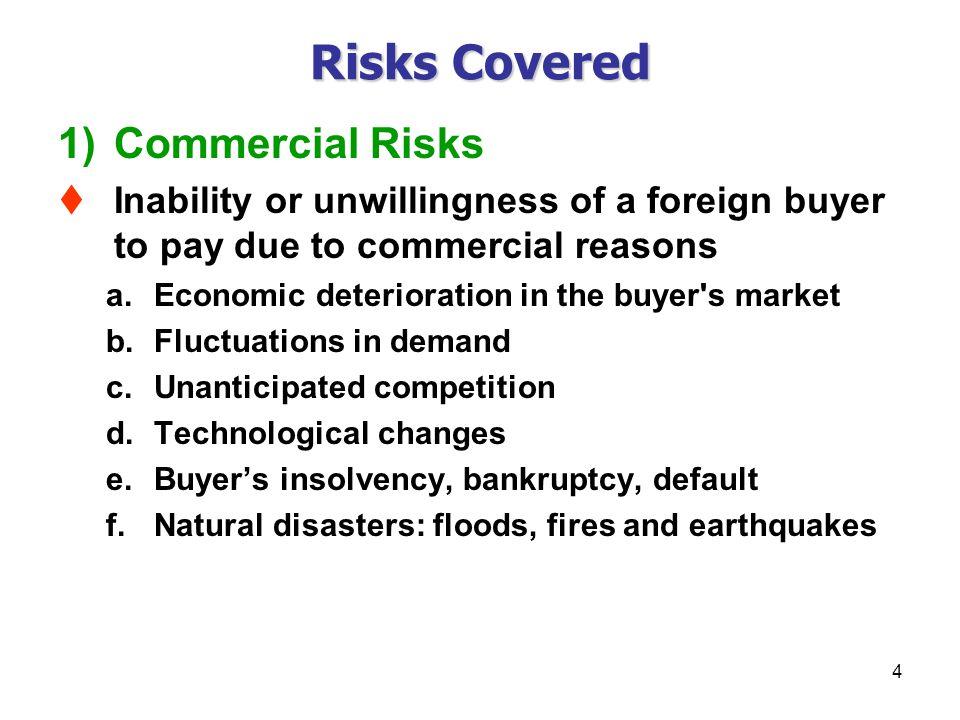Risks Covered Commercial Risks