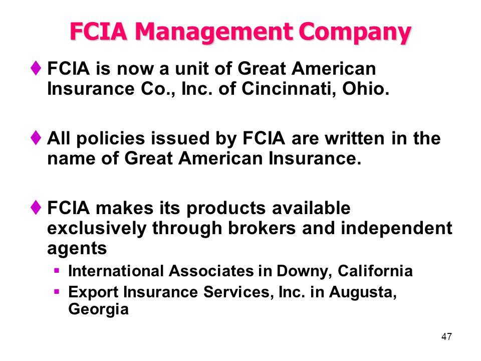 FCIA Management Company
