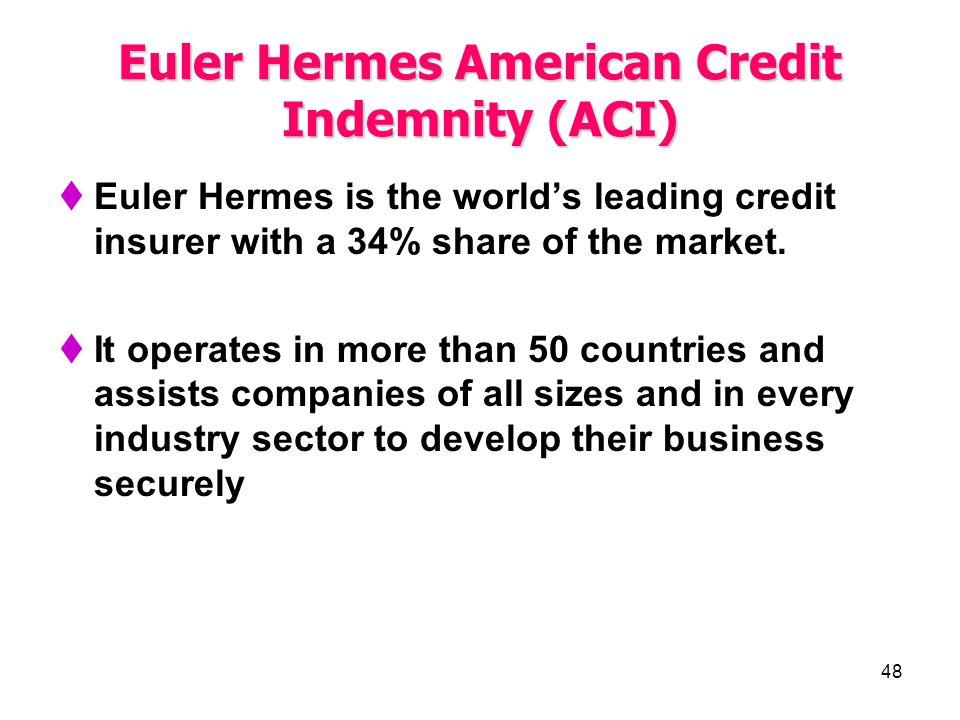 Euler Hermes American Credit Indemnity (ACI)