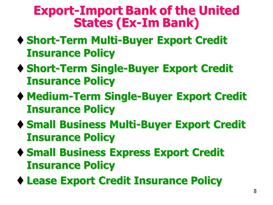 Export-Import Bank of the United States (Ex-Im Bank)