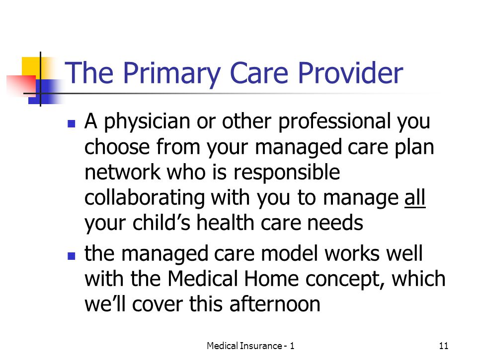 The Primary Care Provider