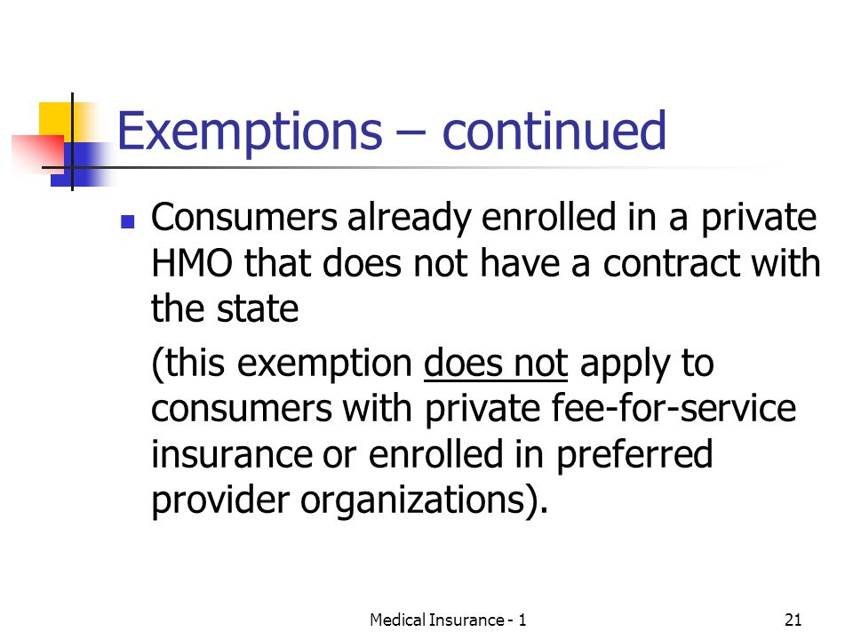 Exemptions – continued