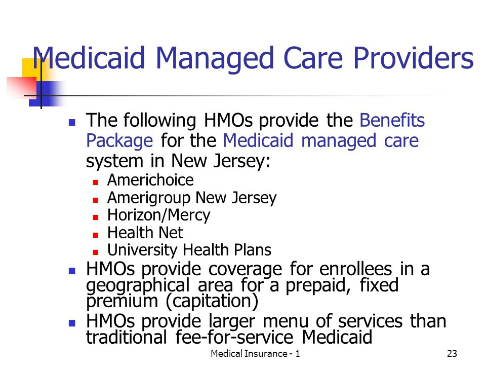 Medicaid Managed Care Providers