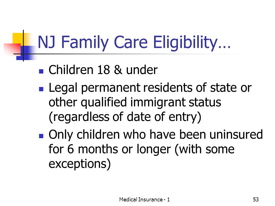 NJ Family Care Eligibility…