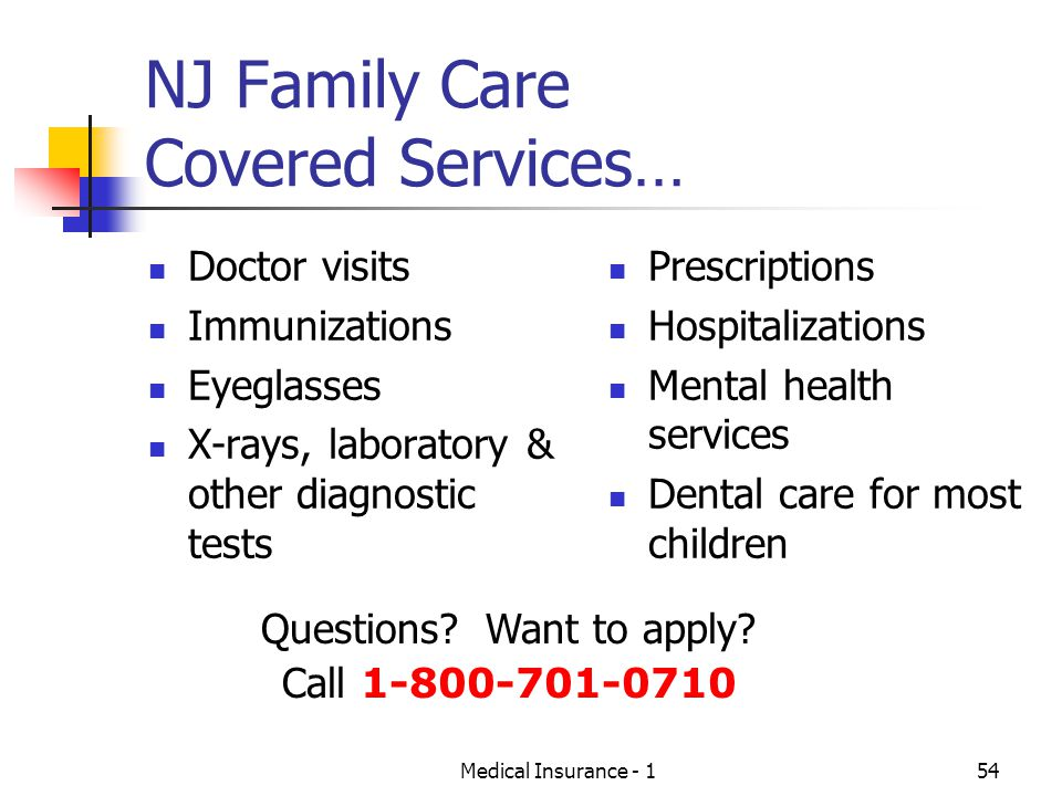 NJ Family Care Covered Services…