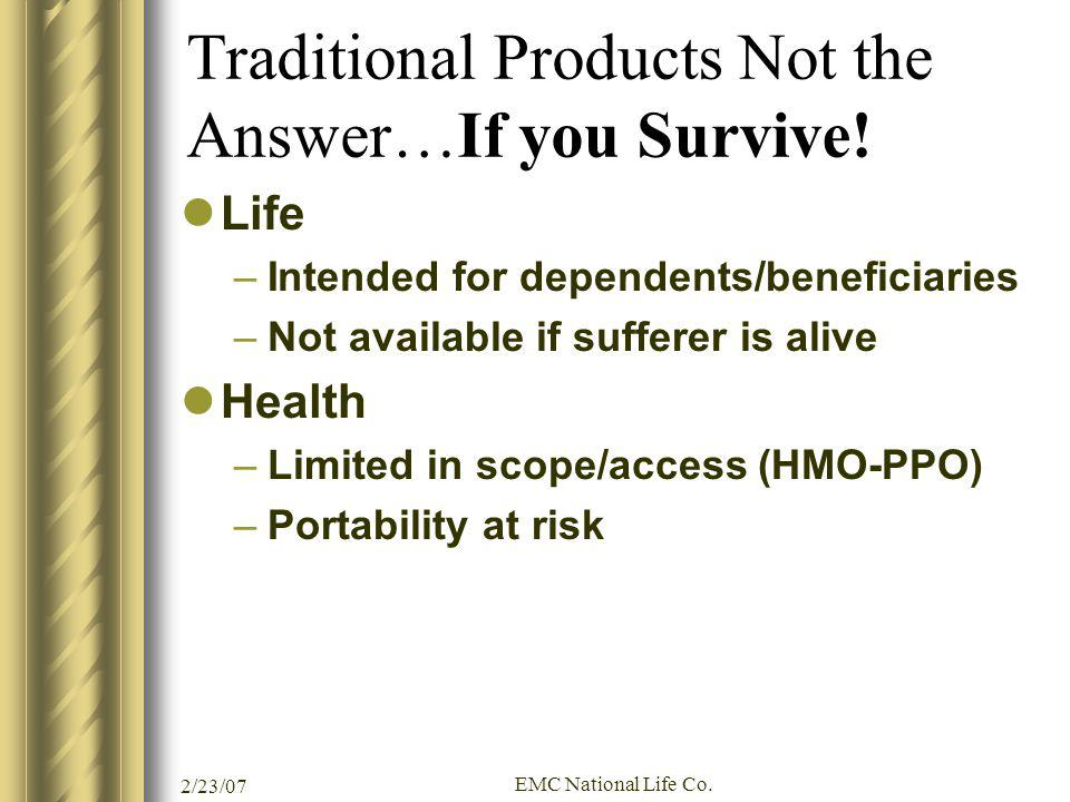 Traditional Products Not the Answer…If you Survive!
