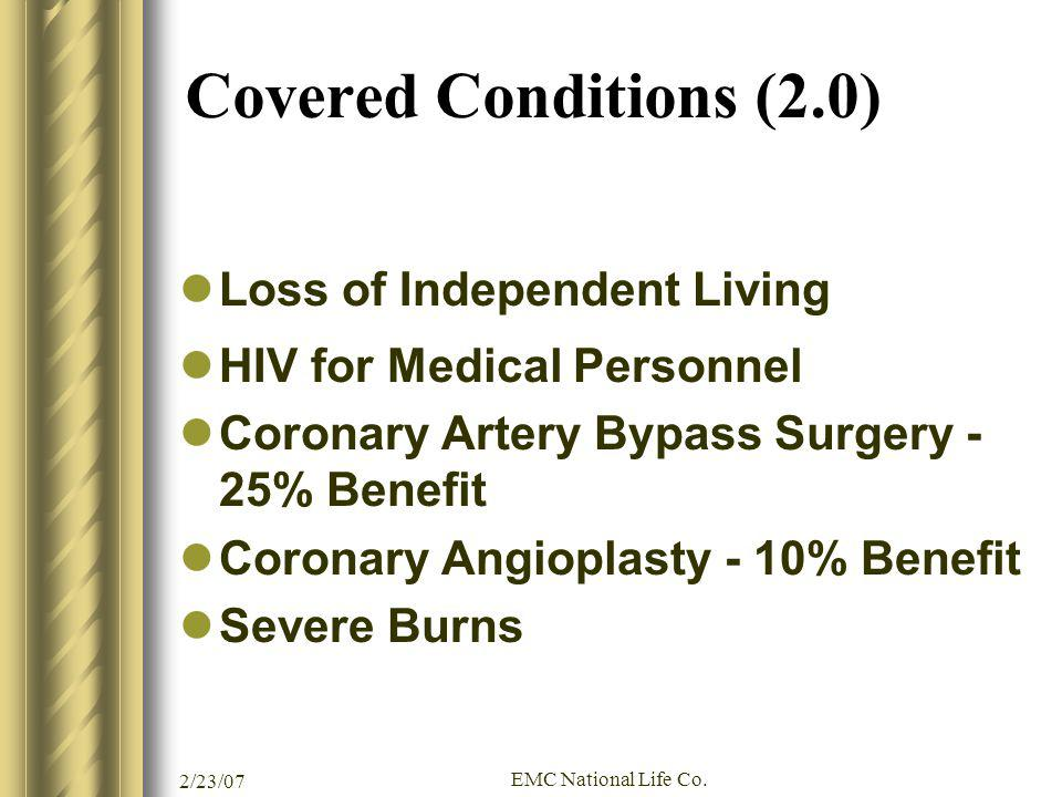Covered Conditions (2.0) Loss of Independent Living