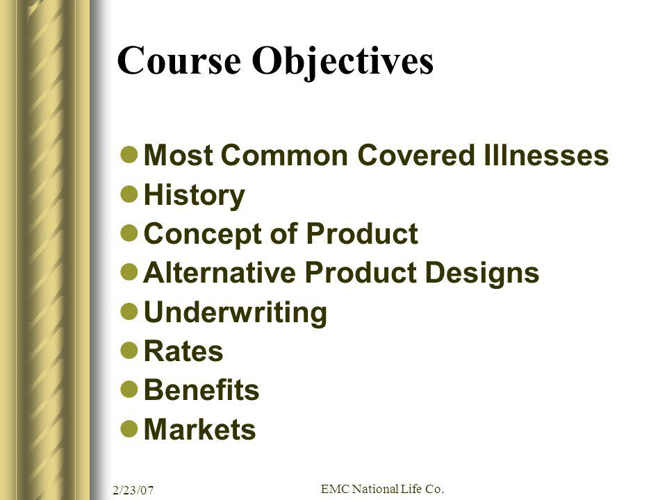 Course Objectives Most Common Covered Illnesses History