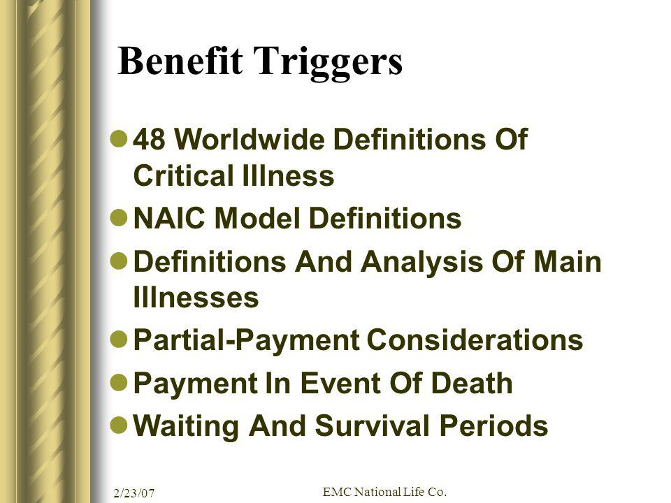 Benefit Triggers 48 Worldwide Definitions Of Critical Illness