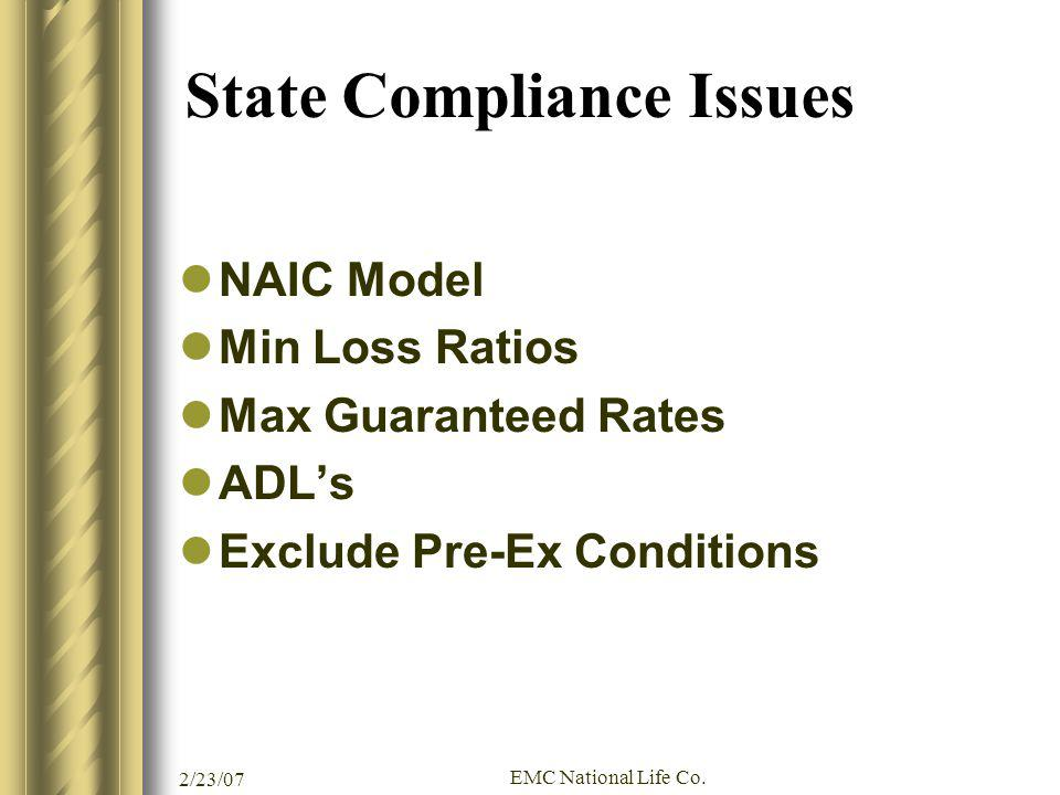 State Compliance Issues